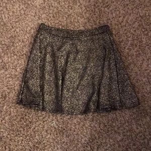 Gold and silver mini skirt Rue 21
